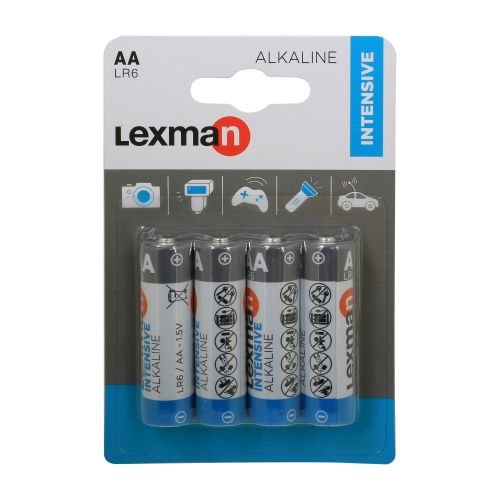 Baterii alcaline AA LR6 x4 Lexman Intensive