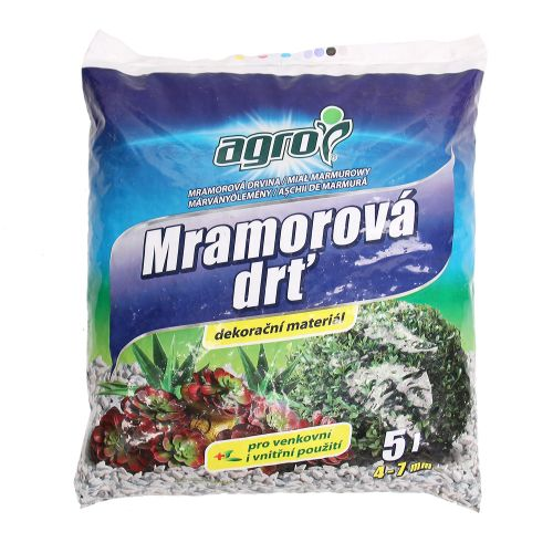 Granule decorative marmura 4-7 mm Agro 5L