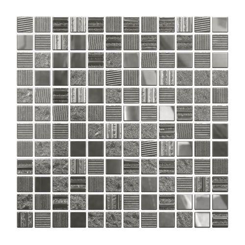 Mozaic 30 x 30 cm sticla argintiu