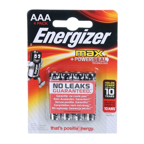 Baterii alcaline AAA x4 Energizer