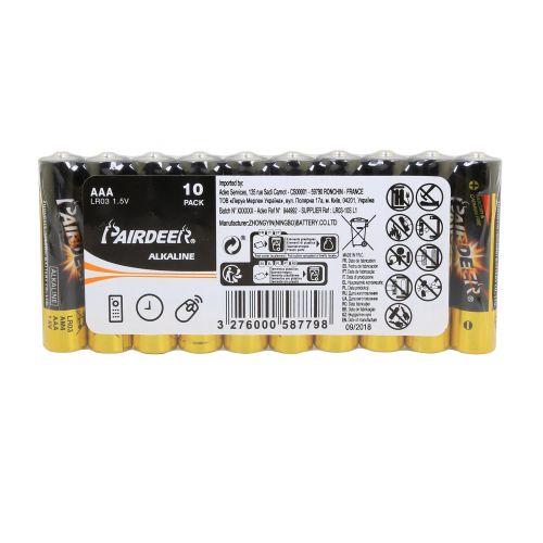 Baterii alcaline AAA LR3 x10 Pairdeer