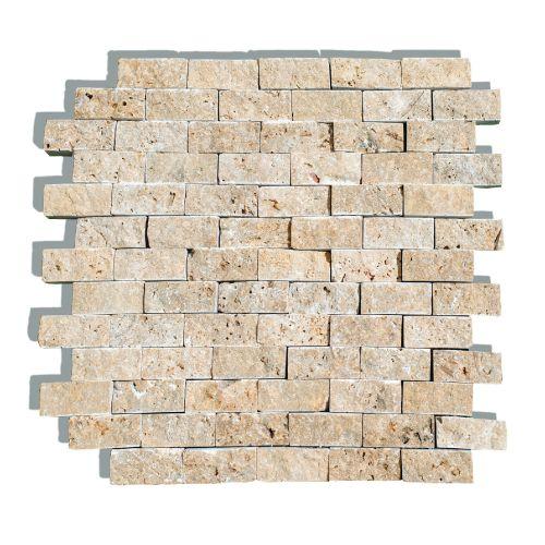 Mozaic 30.5 x 30.5 cm travertin Noce Split