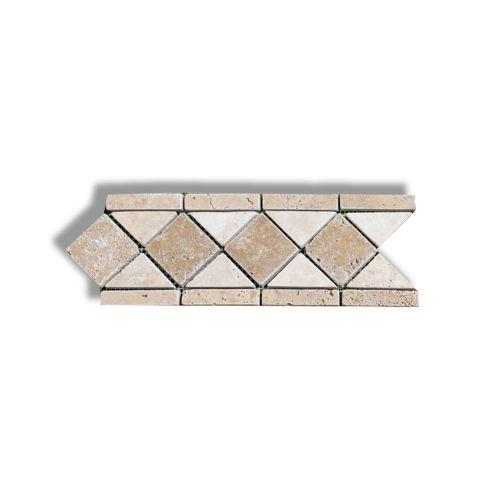 Bordura 10.5 x 28.5 cm travertin clasic Tumbled