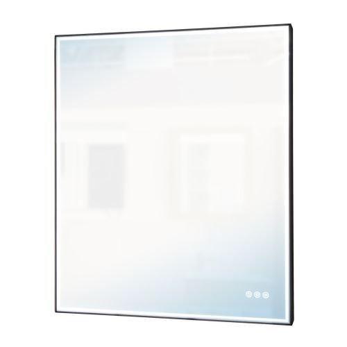 Oglinda cu led Neo 75 x 90 cm neagra