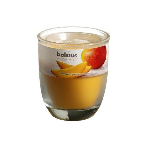 Lumanare parfumata in pahar, aroma mango, 80/70 mm