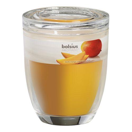 Lumanare parfumata, suport sticla, aroma mango