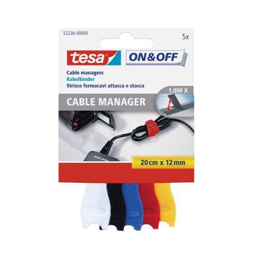 Banda pentru cabluri, 0.2 m x 12 mm, negru, set 5 buc