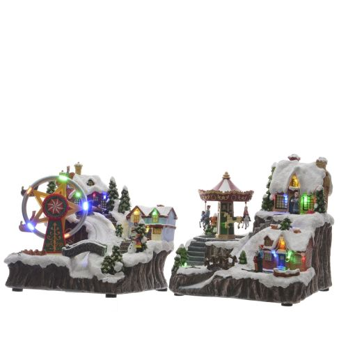 Carusel de iarna cu LED 21 cm