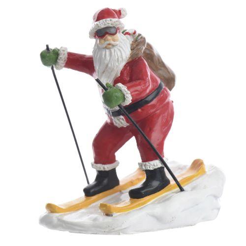 Decoratiune Santa pe schiuri 8 cm
