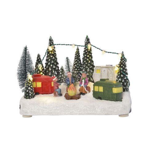 Decoratiune Colt natura nins 12 cm