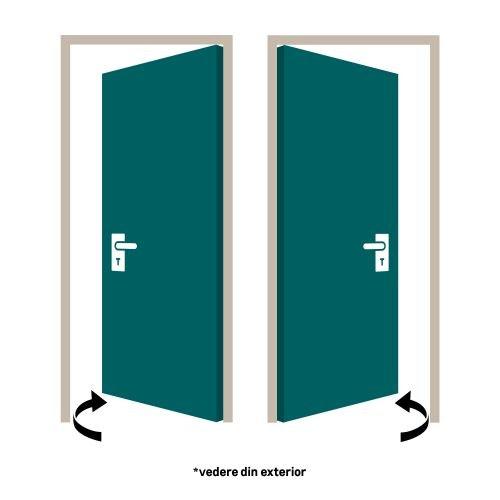 """Foaie usa de interior 60 cm cu geam """"Paula"""" pin Sicilia"""