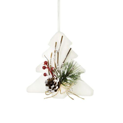 Bradut alb decorat 13 cm
