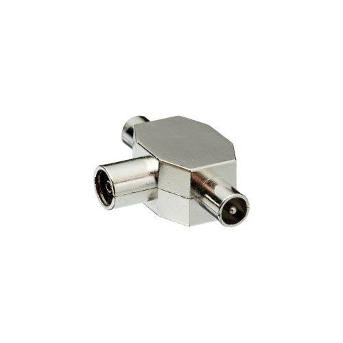 Conector T 9.52 mm 2M/ 1F metal, Evology