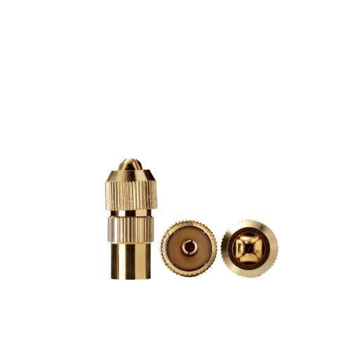 Conector tv Evology 9.52 F gold