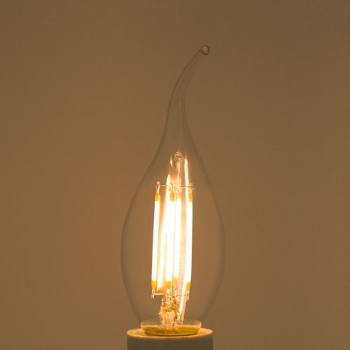 "Bec flacara LED E14, lumina calda ""Lexman"""