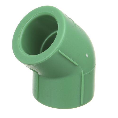 Cot 45° PPR verde D20 mm PN25