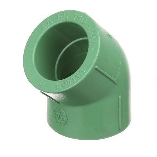 Cot 45° PPR verde D25 mm PN25