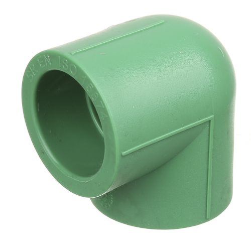 Cot 90° PPR verde D32 mm PN25
