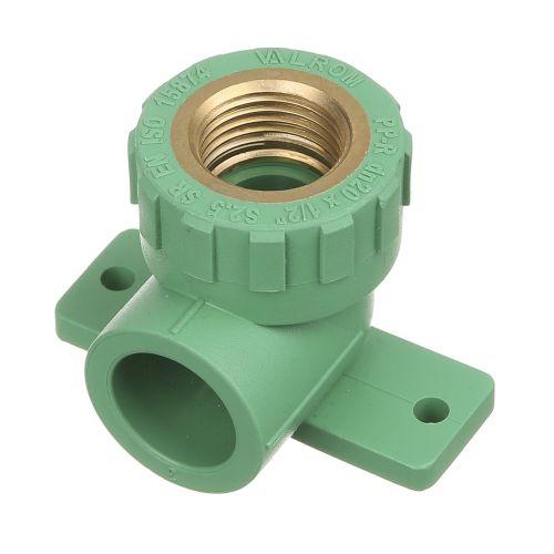 """Cot 90° PPR verde D20 mm x FI 1/2"""" PN25 perete"""