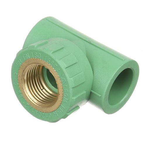 """Teu PPR verde D20 mm x FI 1/2"""" PN25"""
