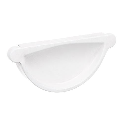 Capac jgheab alb 125 mm