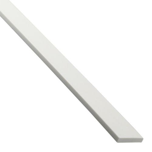 Platbanda pvc alb 10 x 2 mm, 1 m