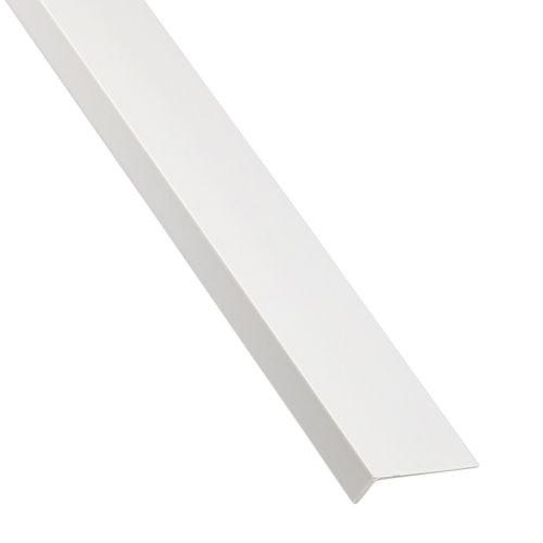 L inegal pvc alb 16 x 11 x 1 mm, 1 m