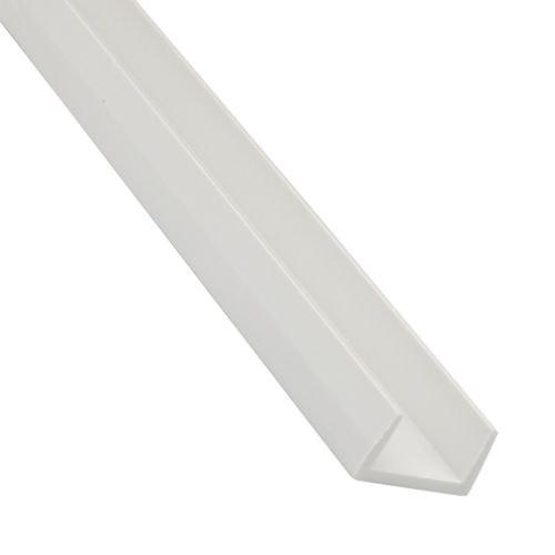 U pvc alb 10 x 10 x 1 mm, 1 m