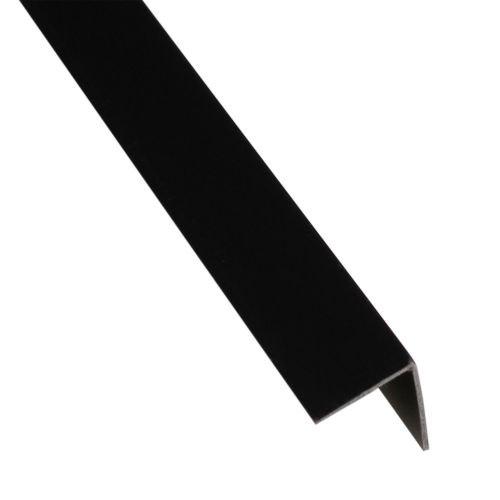 L egal pvc negru 16 x 16 x 1 mm, 1 m