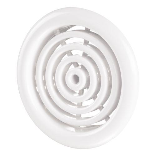 Set 2 grile circulare usa 5.1 cm plastic alb