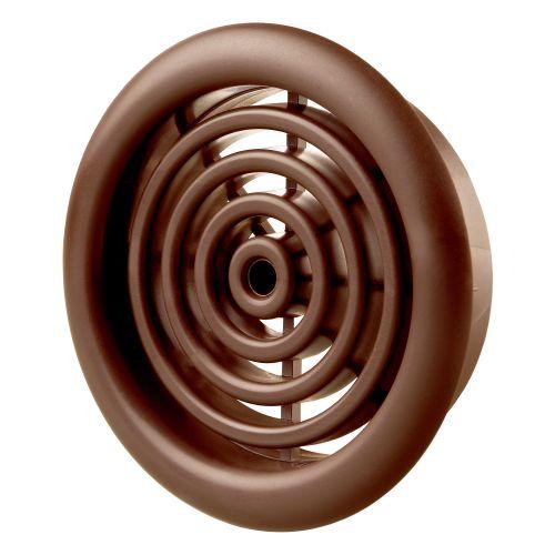 Set 2 grile circulare usa 5.1 cm plastic maro