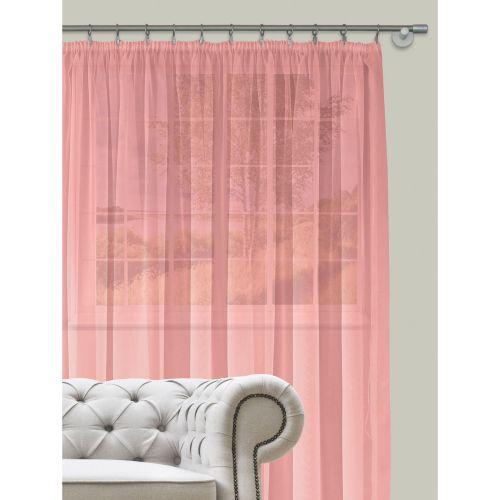 Perdea roz, voal uni, 400 x 260 cm, Diana