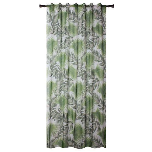 Perdea verde, model frunze, 140 x 245 cm, Palmas