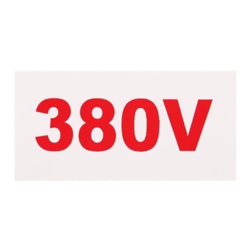 Pictograma de avertizare 380 V 100X50 mm plastic