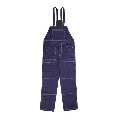Pantalon cu pieptar bleumarin XL