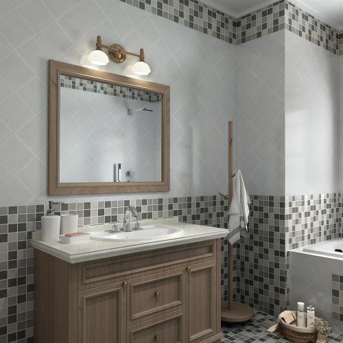 Mozaic 30 x 30 cm portelan mix gri mat