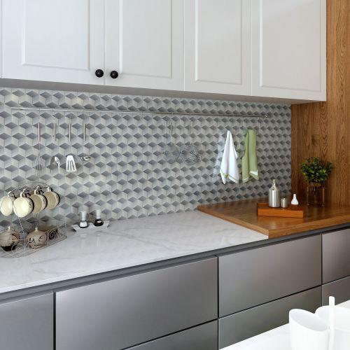 Mozaic 28.8 x 25 cm aluminiu/plastic argintiu