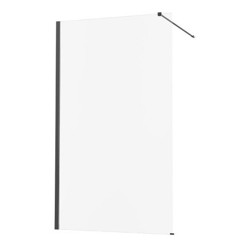 Perete dus walk-in 90 x 200 cm negru 8 mm Remix Sensea