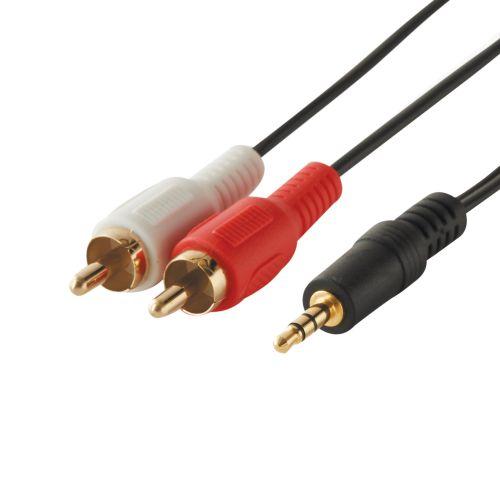 Cablu audio Jack (tata) x 2 RCA (tata), 2 m, Evology