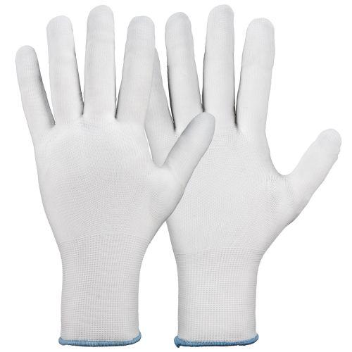 Manusi poliuretan albe marimea 9