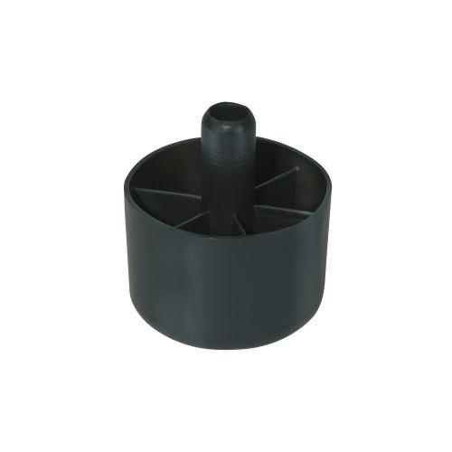 Picior mobila plastic negru 50 mm