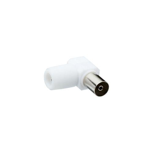 Mufa pentru cablu TV coaxial 9.52 mm 90 grade