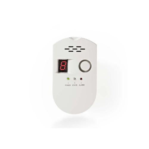 Detector de gaz Nedis alb