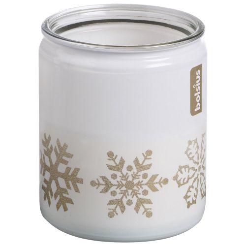 Pahar cu lumanare parfumata, 8.2 x 6.8 cm, Fulgi de zapada