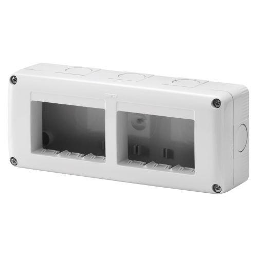 Doza aparenta IP 40 orizontala 6 module (2 x 3) m