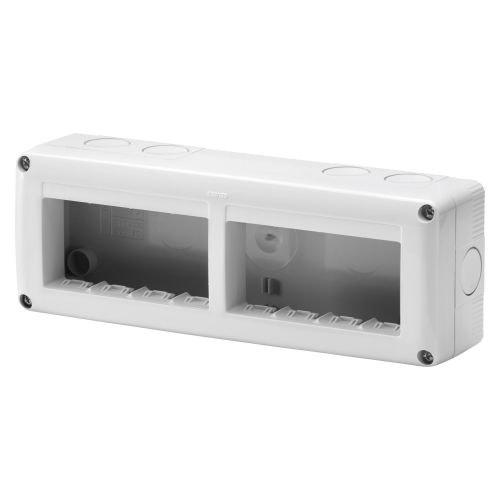 Doza aparenta IP 40 orizontala 8 module (2 x 4) m