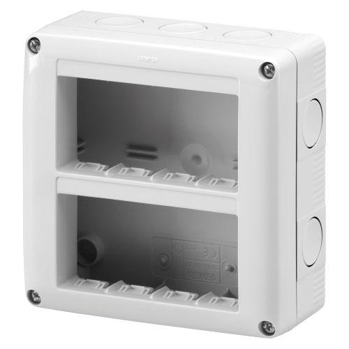 Doza aparenta IP 40 verticala 8 module (2 x 4) m