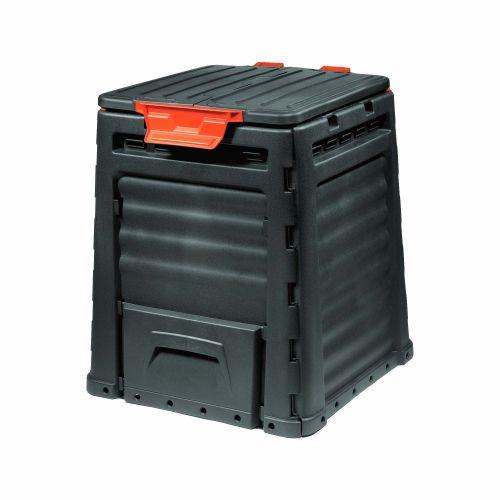 Recipient compost plastic Eco 320L negru