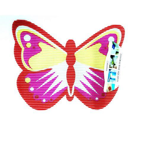 Covoras baie figurina Fluture roz