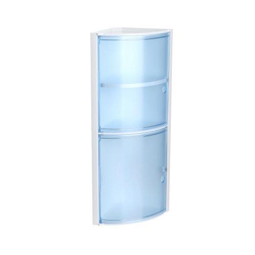 Etajetara colt baie albastru Kristal